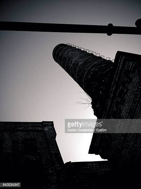 Low-Angle View Of Smoke Stack