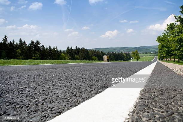 Low-angle view of typical german country road