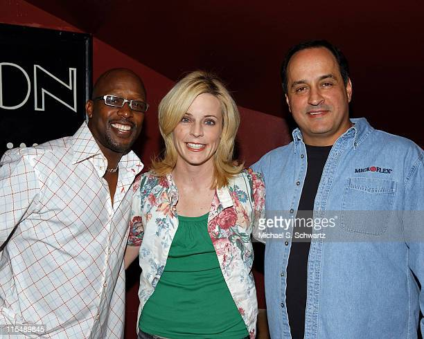 Lowell Sanders Maria Bamford and Rocky Laporte at the Hollywood Improv on October 21 2007 in Hollywood CA