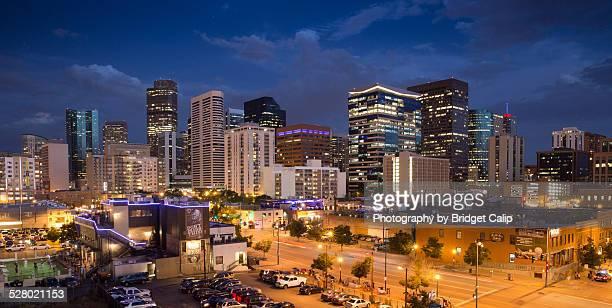 Lower Downtown Denver Skyline at Blue Hour