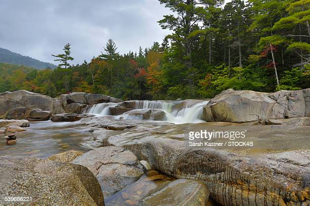 Lower Falls in White Mountains, New Hampshire, USA