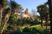 Bournemouth Lower Gardens between the town centre and the beach in winter