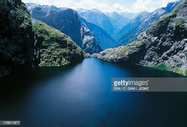 Lower Lake Quill Fiordland National Park Te Wahipounamu South Island New Zealand