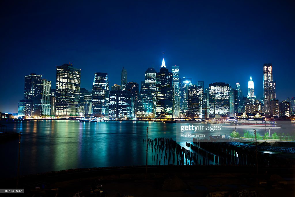 Lower Manhattan From Brooklyn : Stock Photo