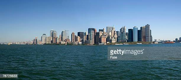 Lower Manhattan Skyline and New York Bay