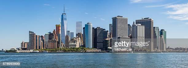 Lower Manhattan skyline panorama