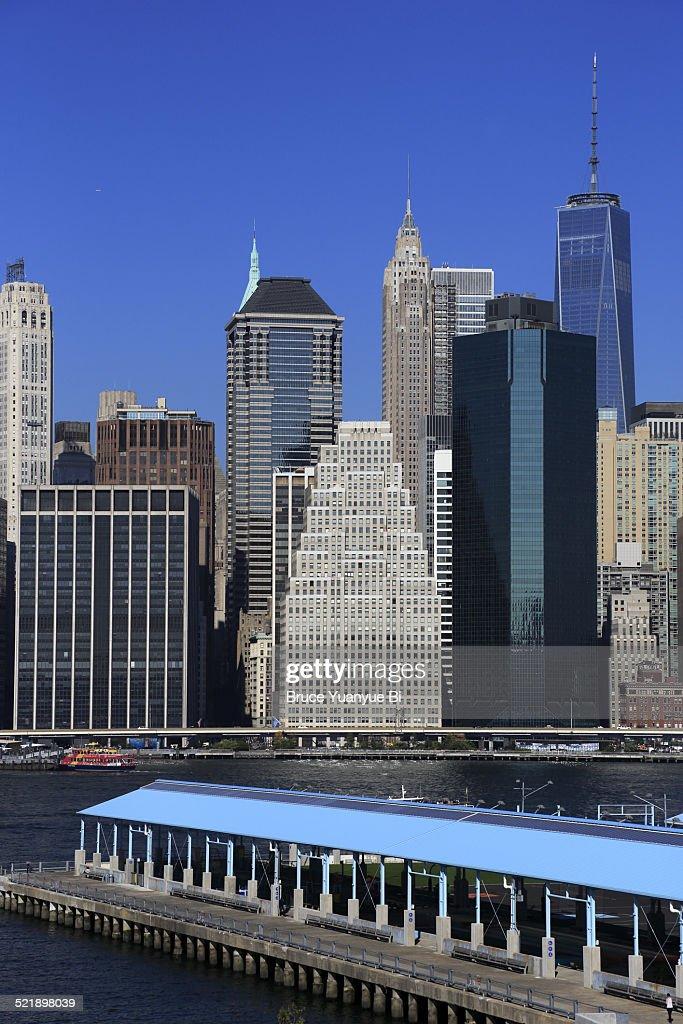 Lower Manhattan skyline with Pier 2