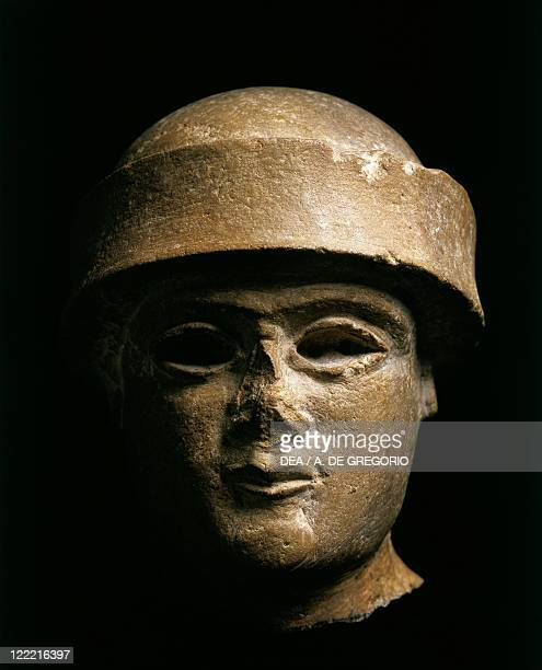 Lower Mesopotamia Iraq Head of a King of the Ur third dynasty circa 21002000 BC from Uruk limestone