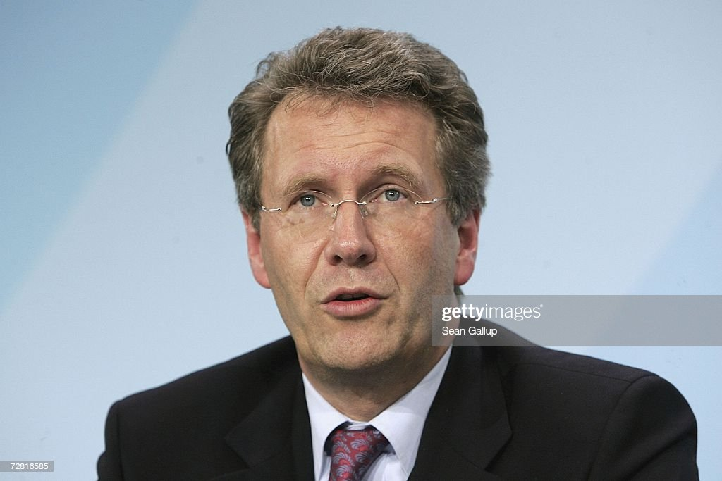 Lower Saxony State Governor Christian Wulff speaks at a press conference after a meeting of German state governors at the Chancellery December 13, 2006 in Berlin, Germany. State governors from across Germany met in Berlin to discuss, among other issues, reforms to the German federal system as well as a national ban on smoking in restaurants, bars, hospitals and schools. Recent legislation failed after lawmakers could not decide whether the ban is a federal or state-level issue.
