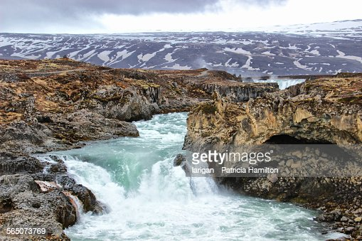Lower section of the Godafoss falls