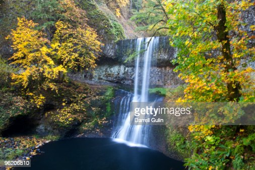 Lower South Falls Silver Falls St. Park, Oregon : Stock Photo