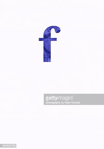 lowercase letter f - paper cut