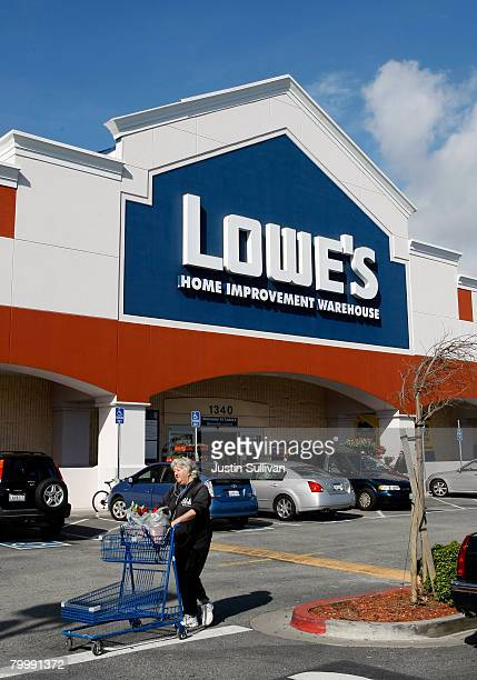Lowe's home improvement store is shown February 25 2008 in San Bruno California Lowe's the second largest home improvement retailer in the US behind...