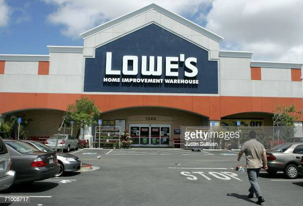 Lowe's home improvement warehouse store is seen May 22 2006 in San Bruno California Lowe's the second largest home improvement store chain in the...