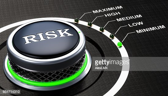 Lowest level of risk concept, knob. 3D rendering : Stock Photo
