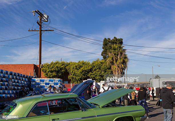 A lowrider from Eastside Car Club at Randy's Donuts on December 4 2016 in Inglewood California