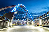 A one of the walkways on the Lowry Avenue Bridge in  Northeast Minneapolis, Minnesota.