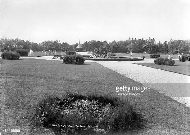 Lowther Gardens Lytham St Anne's Lancashire 18901910 Lowther Gardens in Lytham looking towards the central pond The gardens were laid out by John...