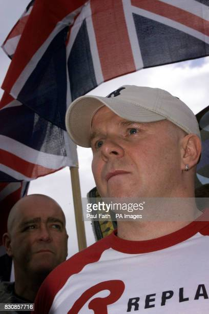 Loyalist paramilitary chief Johnny Adair after his release from Maghaberry Prison near Lisburn CoAntrim in Northern Ireland Adair who was convicted...