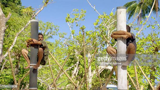 'Loyalties Will Be Broken' Ozzy Lusth and Brandon Hantz during the Final Redemption Island Duel on the twohour season finale of SURVIVOR SOUTH...