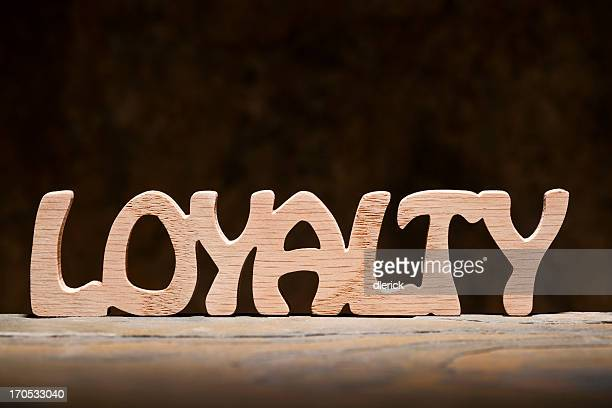 Loyalty: Letters Handcut from Wood
