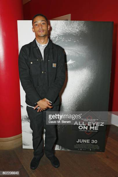 Loyle Carner attends a special screening of 'All Eyez On Me' at The Ham Yard Hotel on June 27 2017 in London England