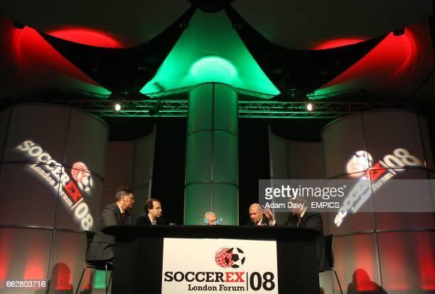lr Francisco Roca Perez CEO Liga Nacional de Futbol Profesional Tiago Craveiro GS Marketing Director Liga Portuguesa de FUtebol Profissional Dr Rogan...