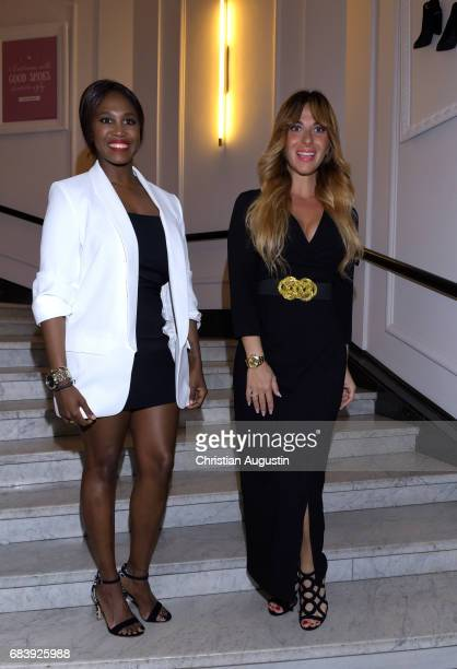 lr Motsi Mabuse and Guelcan Kamps attend the Deichmann Shoe Step of the year award at Curio Haus on May 16 2017 in Hamburg Germany