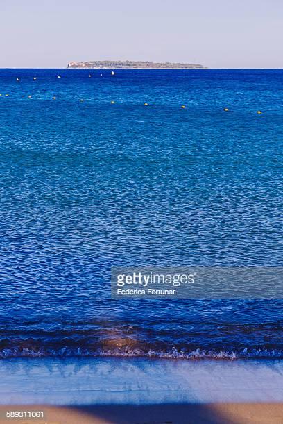 Lérins Islands and Mediterranean sea