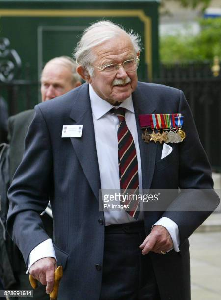 Lt Colonel Eric Wilson a Victoria Cross recipient arrives at Westminster Abbey London for a ceremony attended by Queen Elizabeth II * The Queen...