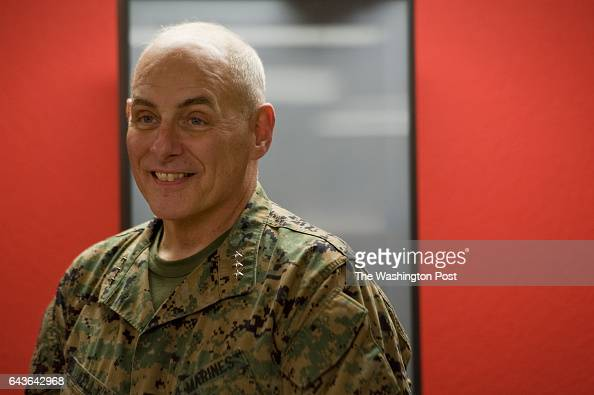 Lt Gen John F Kelly makes the trip to San Antonio Texas to pin a purple heart on an injured Marine at Brooke Army Medical Center in San Antonio Texas...