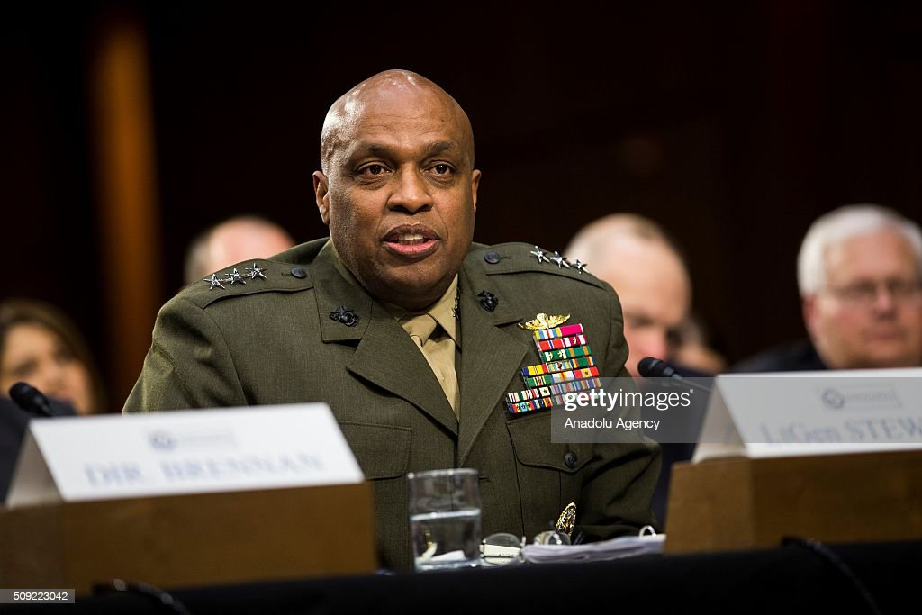 Lt. Gen. Vincent Stewart, Director of the Defense Intelligence Agency, testifies during a Senate Intelligence Committee hearing in Washington, USA on February 9, 2016.