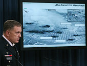 Lt Gen William C Mayville Jr speaks about the Syrian bombing campaign September 23 2014 in Washington DC Mayville talked about the US and Arab air...