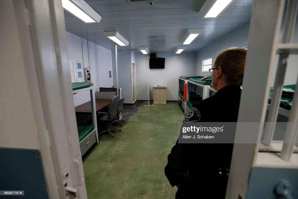 MONTEBELLO, CA -- WEDNESDAY, DEC. 14, 2016: Lt. Kelly Gordon, jail manager, gives a tour of the pay-to-stay jail cell dorm at the Montebello jail in Montebello Wednesday, Dec. 14, 2016.