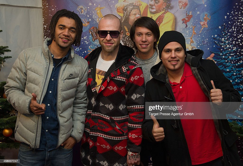 LThe band Culcha Candela attend the 10th Roncalli Christmas Circus at Tempodrom on December 19, 2013 in Berlin, Germany.
