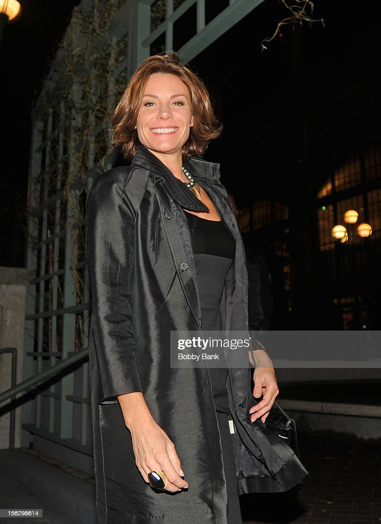 Lu Ann de Lesseps filming on location for 'Celebrity Apprentice All Stars' on November 12, 2012 in New York City.