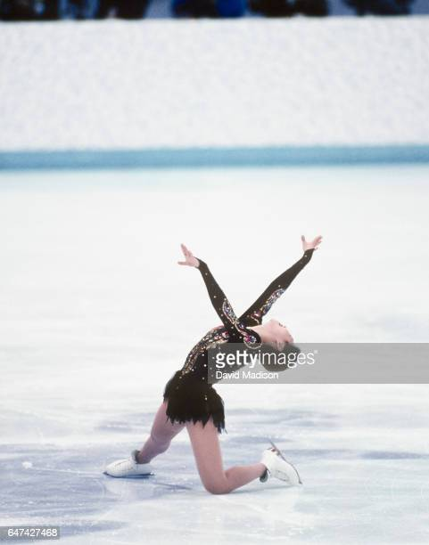 Lu Chen of China finishes her Free Skate performance of the Women's Figure Skating singles competition of the 1994 Winter Olympic Games on February...