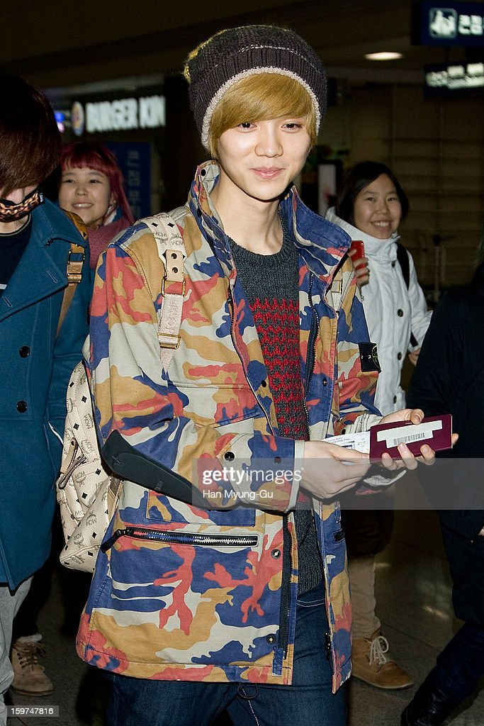 Lu Han of boy band EXO-M is seen at Incheon International Airport on January 19, 2013 in Incheon, South Korea.