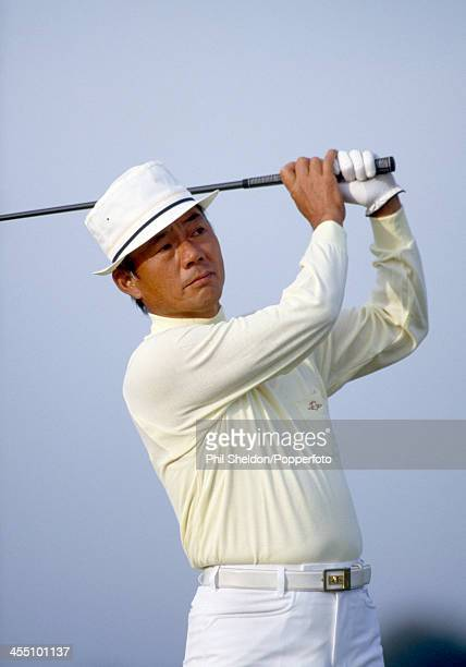 Lu Liang Huan of the Taiwan team in action during the Alfred Dunhill Cup golf competition held at the St Andrews Golf Course Scotland circa October...