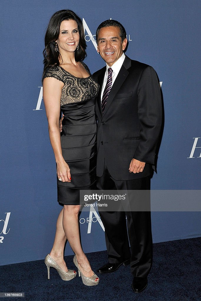Lu Parker and Mayor Antonio Villaraigosa arrives at The Hollywood Reporter celebrates the 84th annual Academy Awards nominees at the Getty House on...