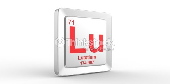 Lu Symbol 71 Material For Lutetium Chemical Element Stock Photo