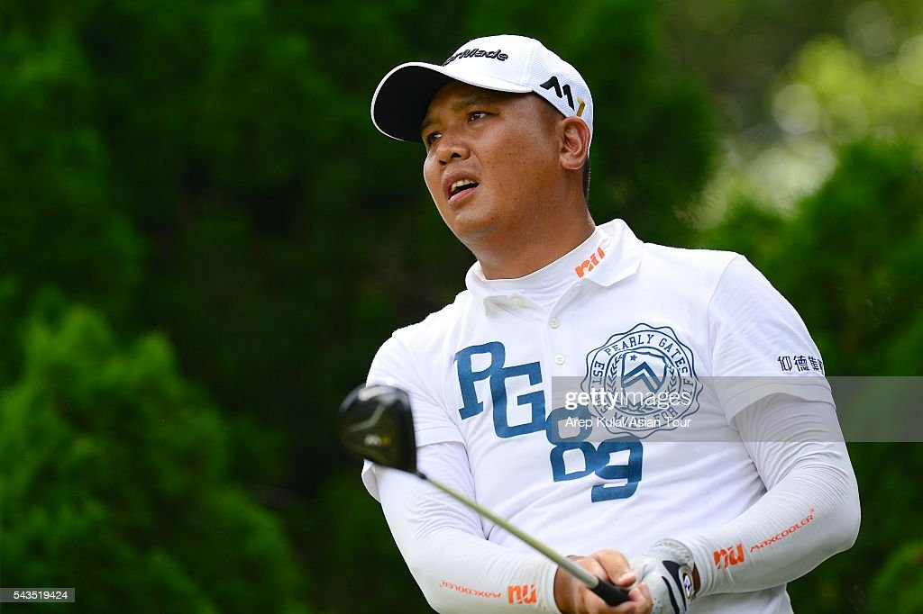 Lu Wei Chih of Chinese Taipei pictured during the ProAM tournament ahead of Yeangder Tournament Players Championship at Linkou International Golf Club on June 29, 2016 in Taipei, Taiwan.