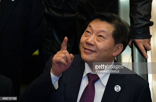 Lu Wei China's Minister of Cyberspace Affairs Administration gestures after giving a speech at the opening ceremony of the World Internet Conference...