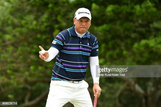 Lu Weichi of Taiwan pictured during round three of the Yeangder Tournament Players Championship at Linkou lnternational Golf and Country Club on...