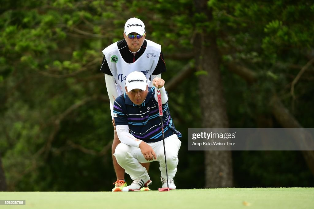 Lu Wei-chi of Taiwan pictured during round three of the Yeangder Tournament Players Championship at Linkou lnternational Golf and Country Club on October 7, 2017 in Taipei, Taiwan.