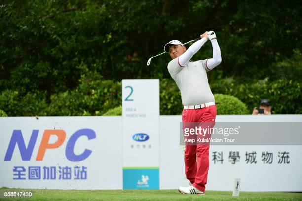 Lu Weichih of Taiwan pictured during final round of the Yeangder Tournament Players Championship at Linkou lnternational Golf and Country Club on...