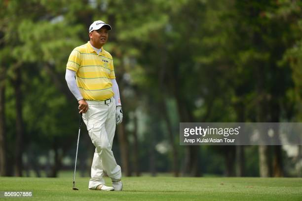 Lu Weichih of Taiwan pictured during the ProAm tournament ahead of Yeangder Tournament Players Championship at Linkou lnternational Golf and Country...