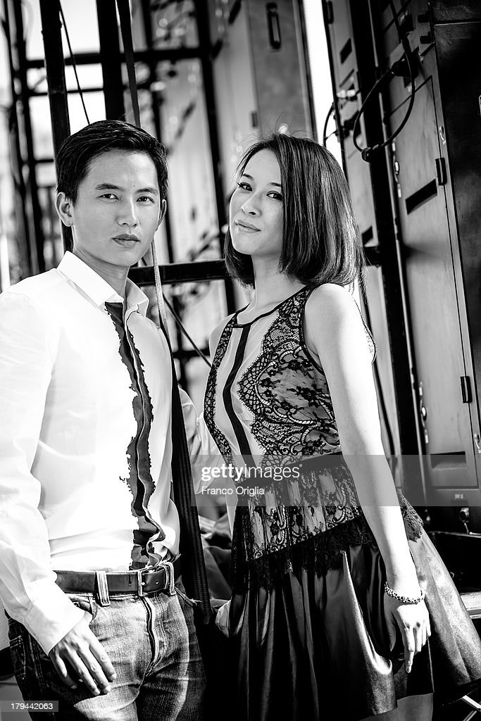 Lu Yulai and He Wenchao attend the 'Trap Street' Portrait Session as part of the 70th Venice International Film Festival on August 31, 2013 in Venice, Italy.