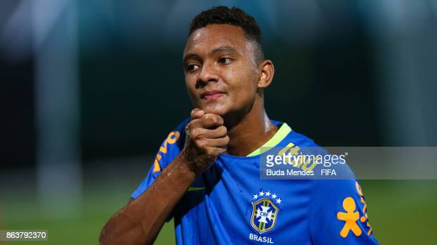Luan Candido of Brazil in action during the training session ahead of the FIFA U17 World Cup India 2017 tournament at Kolkata 2 Training Centre on...
