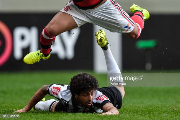 Luan of Atletico MG a match between Atletico MG and Flamengo as part of Brasileirao Series A 2017 at Independencia stadium on August 13 2017 in Belo...